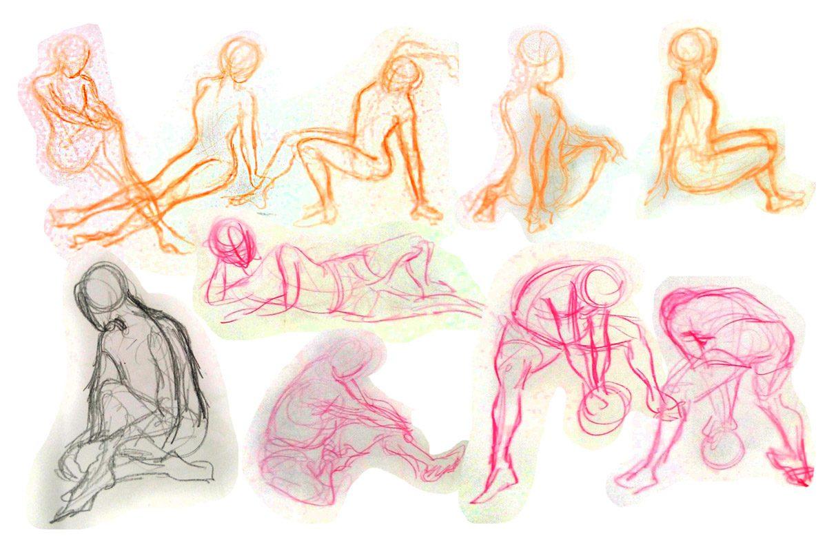 Bài thi Gesture Drawing 30s - Hải Ngân