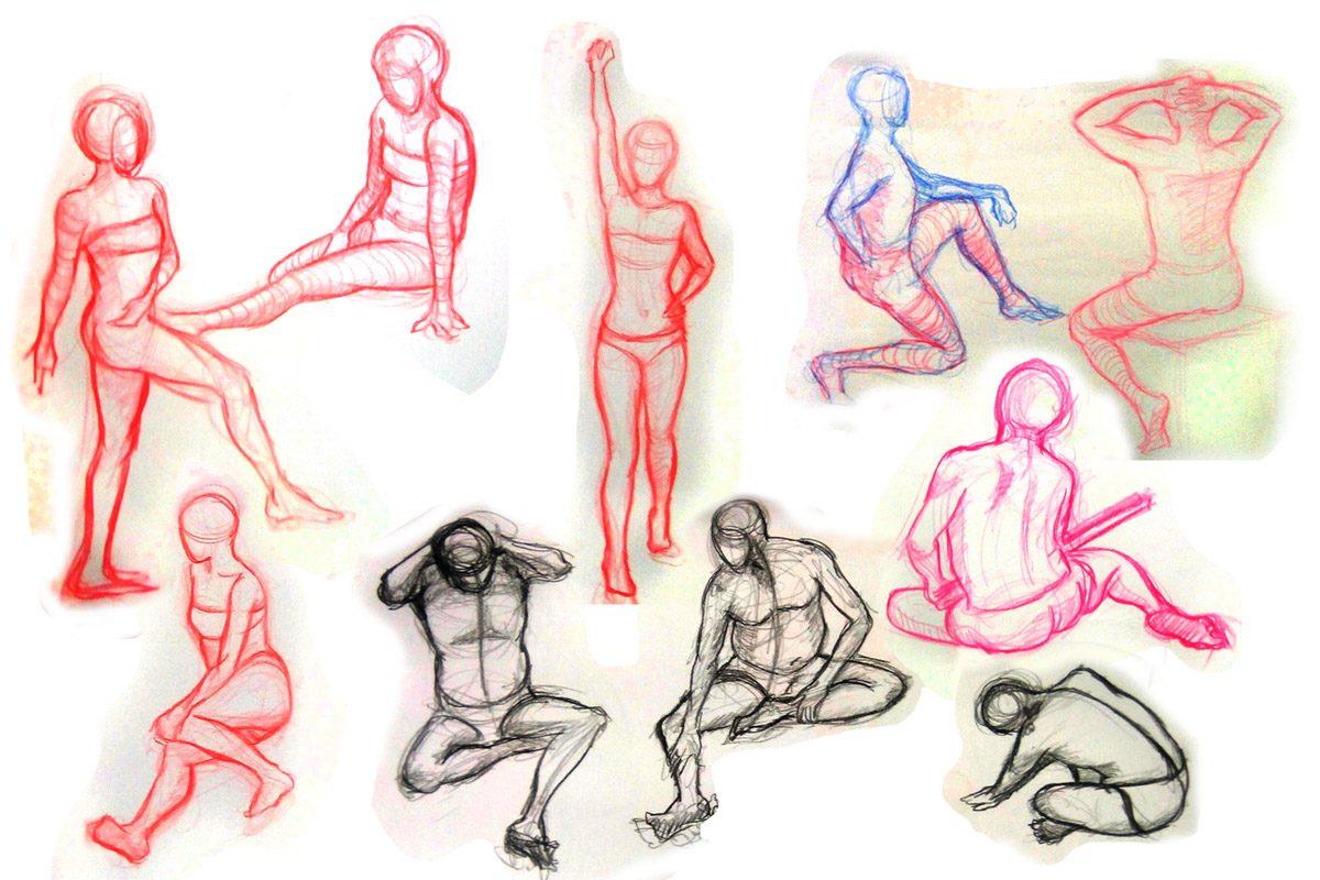 Bài thi Gesture Drawing 5 min - Hải Ngân
