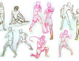 Bài thi Gesture Drawing Character - Hải Ngân