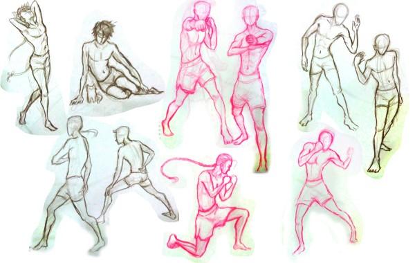 Bài thi Gesture Drawing – Mai Thu Hải Ngân