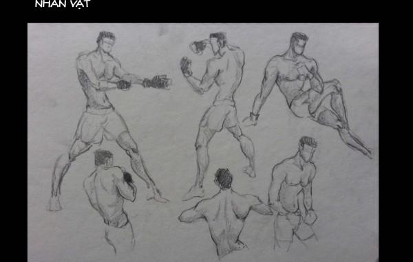 Bài thi Gesture Drawing – Lạc An