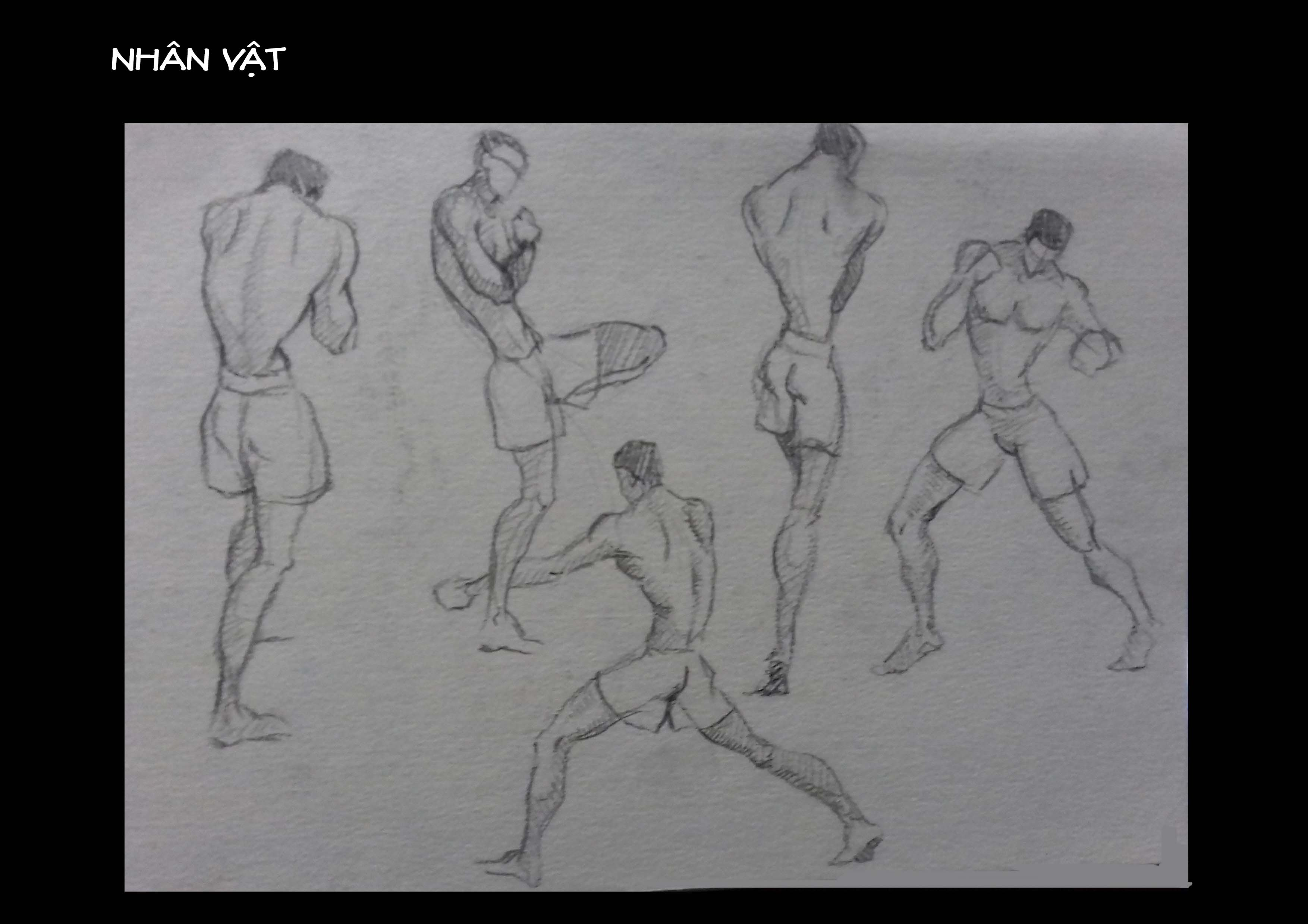 Bài thi Gesture Drawing - Lạc An