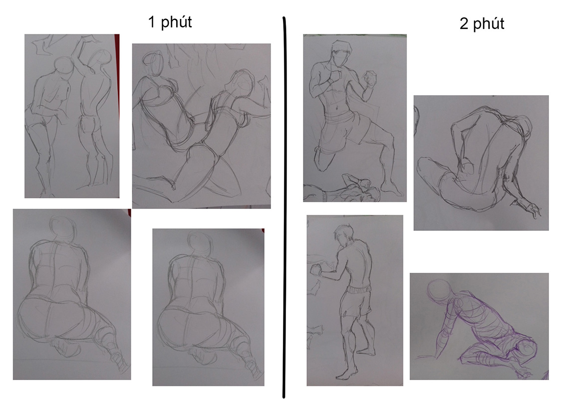 Bài thi Gesture Drawing - Thương Haki