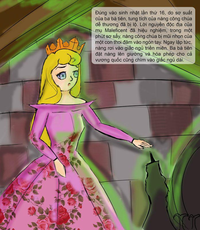 Truyện tranh minh họa Công Chúa Ngủ Trong Rừng - Ngô Kiều Xuân