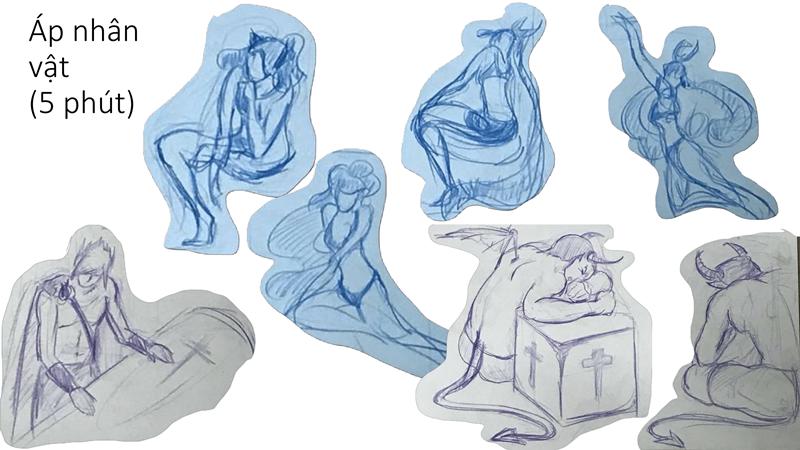 Bài tập Gesture Drawing Huỳnh Ngọc Minh Phương 1