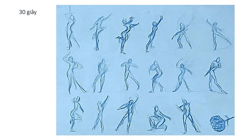 Bài tập Gesture Drawing Huỳnh Ngọc Minh Phương 12