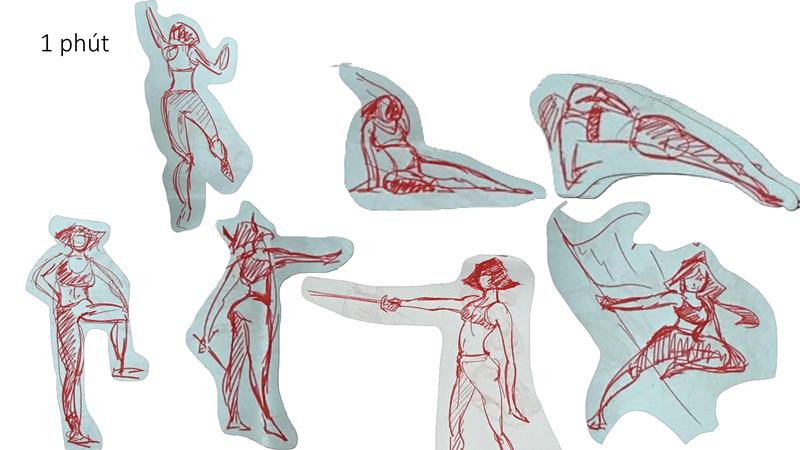 Bài tập Gesture Drawing Huỳnh Ngọc Minh Phương 14