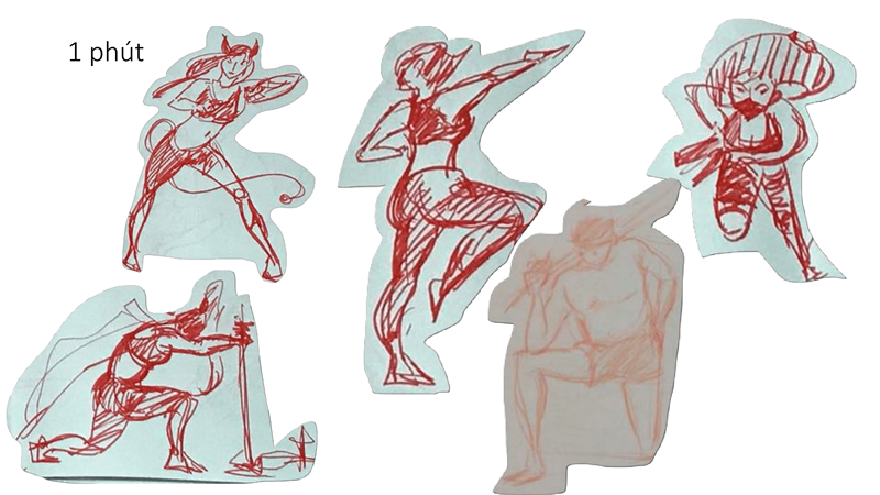 Bài tập Gesture Drawing Huỳnh Ngọc Minh Phương 15