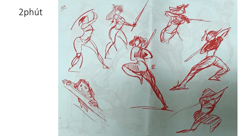 Bài tập Gesture Drawing Huỳnh Ngọc Minh Phương 16