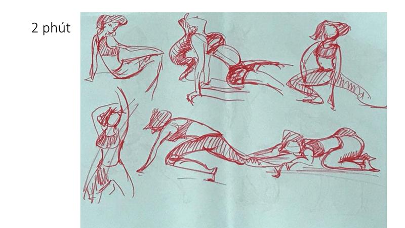 Bài tập Gesture Drawing Huỳnh Ngọc Minh Phương 17
