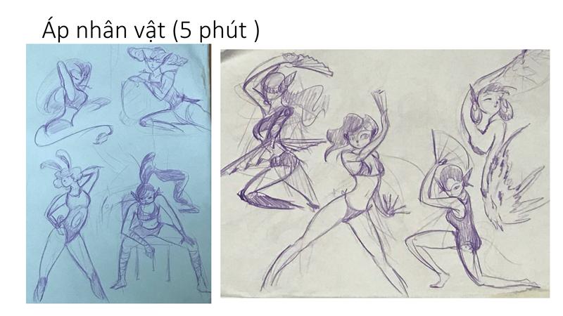 Bài tập Gesture Drawing Huỳnh Ngọc Minh Phương 2