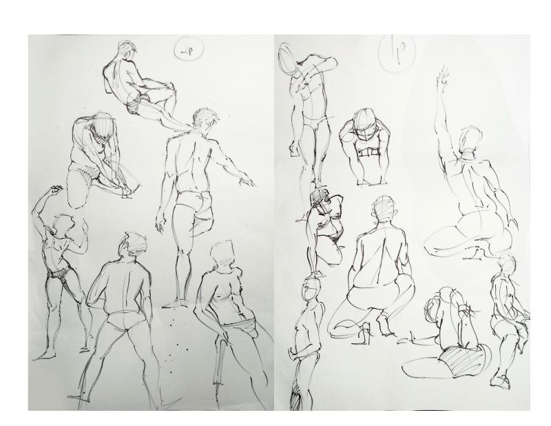 Bài tập Gesture Drawing Nguyễn Khương Thảo 10