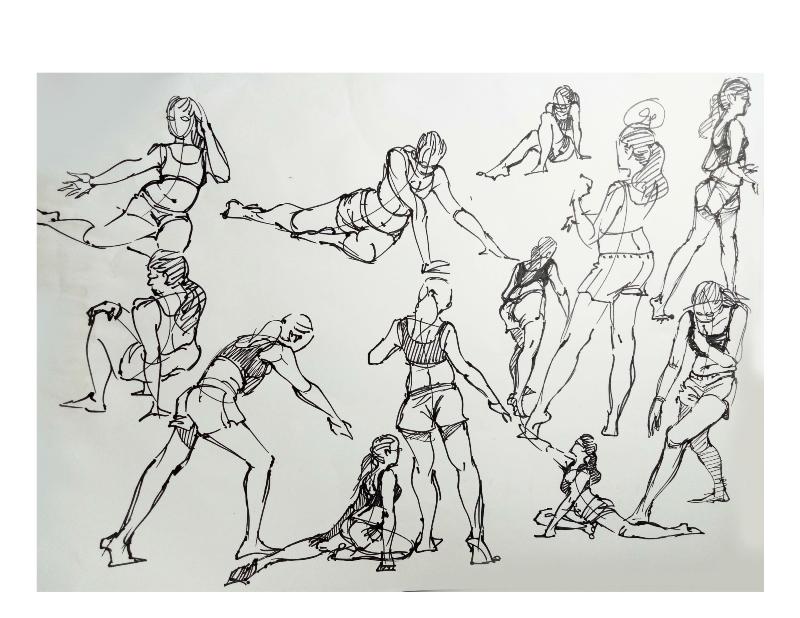 Bài tập Gesture Drawing Nguyễn Khương Thảo 11