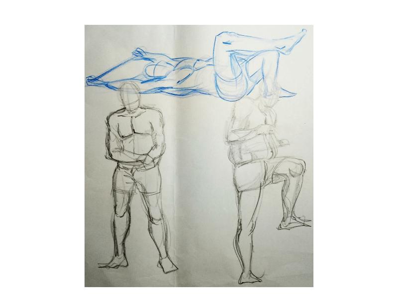 Bài tập Gesture Drawing Nguyễn Khương Thảo 14