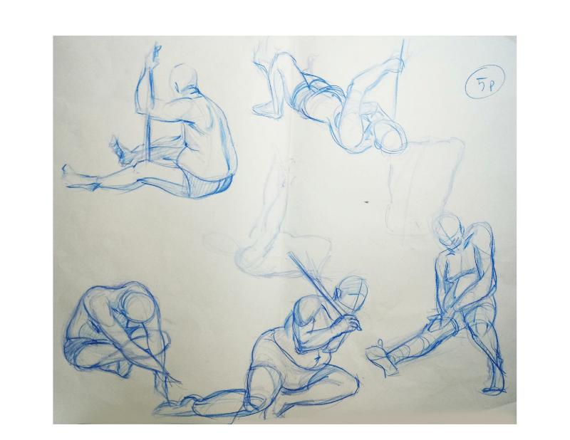Bài tập Gesture Drawing Nguyễn Khương Thảo 16