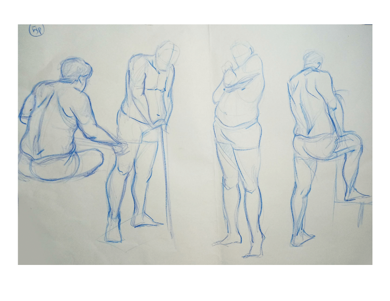 Bài tập Gesture Drawing Nguyễn Khương Thảo 18
