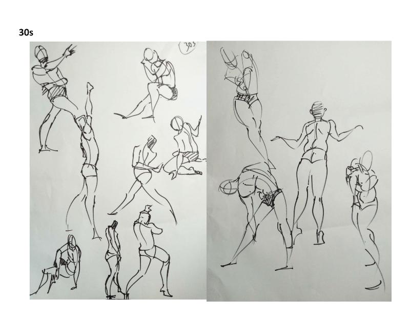Bài tập Gesture Drawing Nguyễn Khương Thảo 2