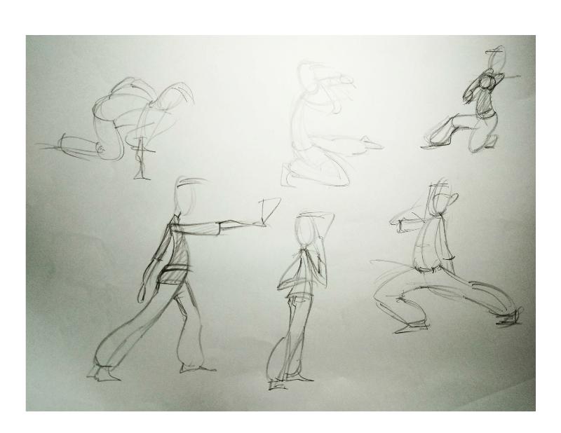Bài tập Gesture Drawing Nguyễn Khương Thảo 20