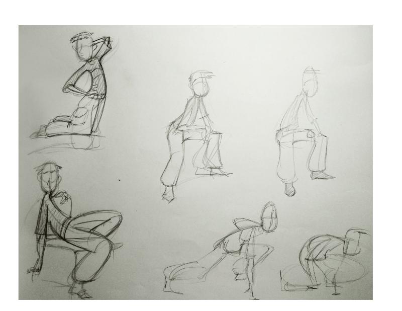 Bài tập Gesture Drawing Nguyễn Khương Thảo 21