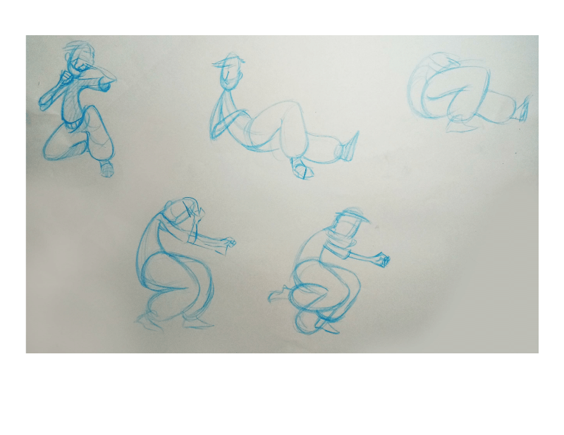 Bài tập Gesture Drawing Nguyễn Khương Thảo 22
