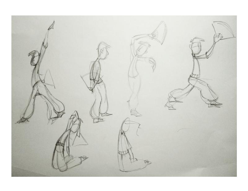 Bài tập Gesture Drawing Nguyễn Khương Thảo 23