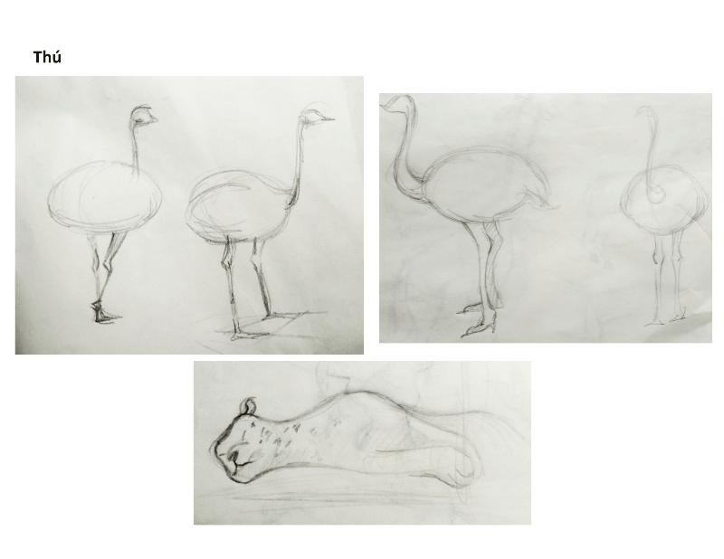Bài tập Gesture Drawing Nguyễn Khương Thảo 24