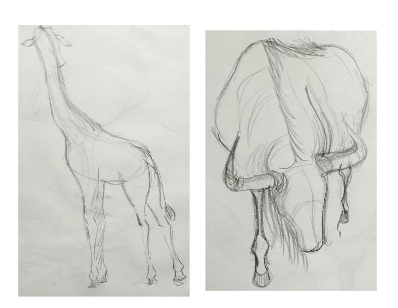 Bài tập Gesture Drawing Nguyễn Khương Thảo 26