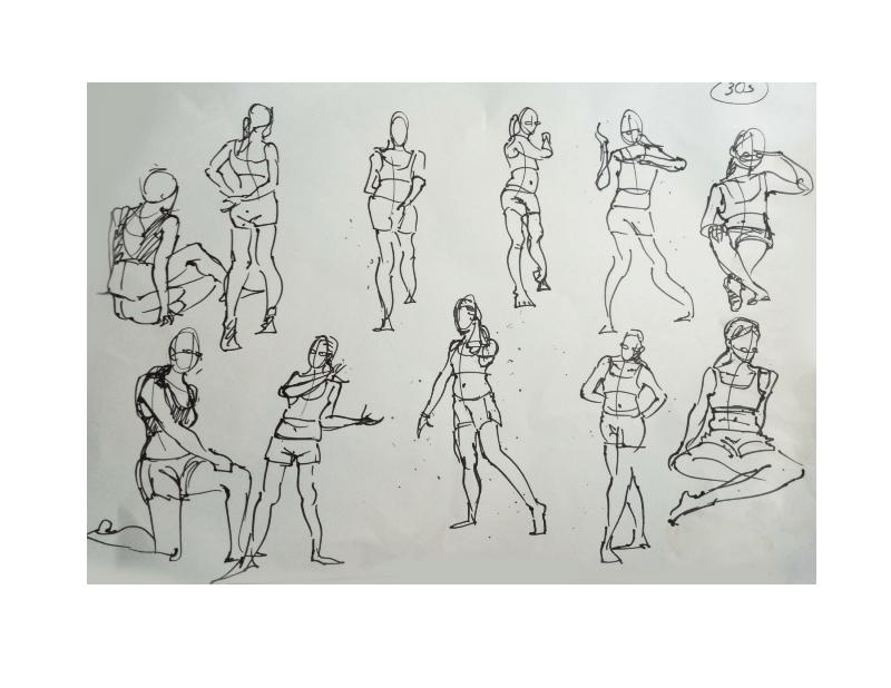 Bài tập Gesture Drawing Nguyễn Khương Thảo 3