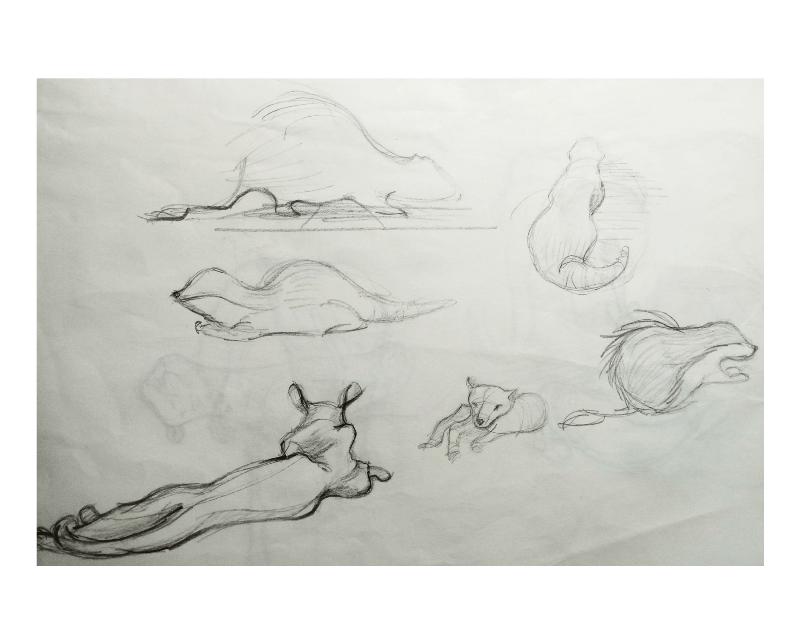 Bài tập Gesture Drawing Nguyễn Khương Thảo 31