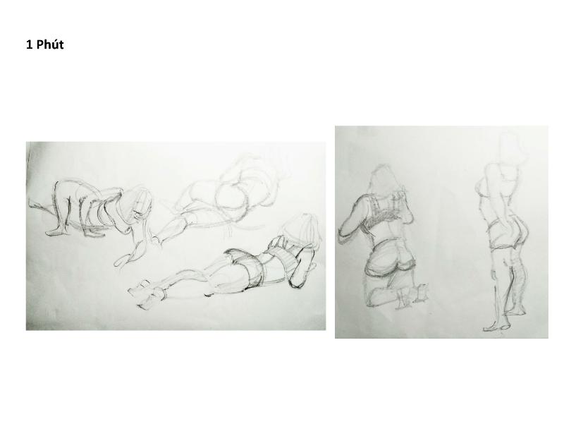 Bài tập Gesture Drawing Nguyễn Khương Thảo 4