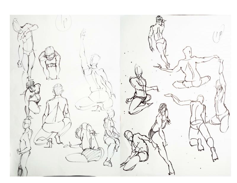 Bài tập Gesture Drawing Nguyễn Khương Thảo 5