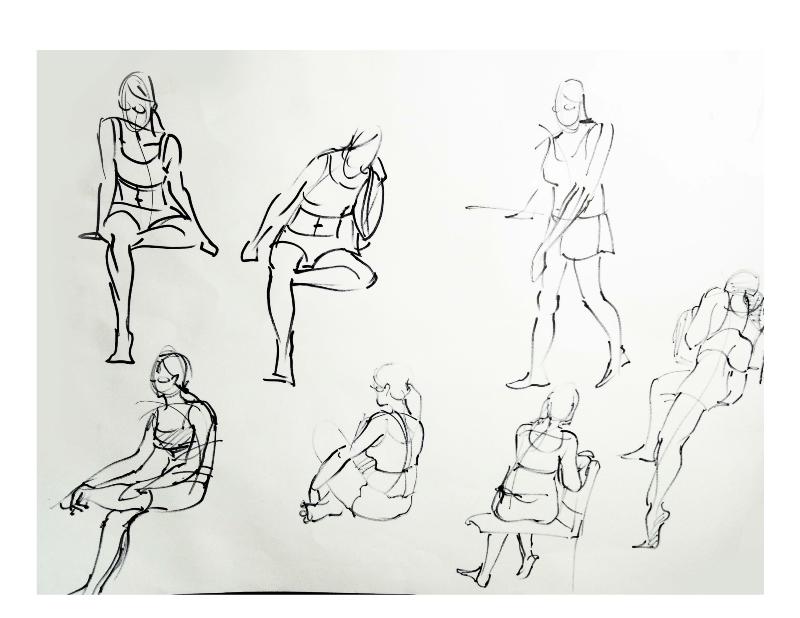 Bài tập Gesture Drawing Nguyễn Khương Thảo 6