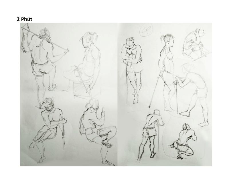 Bài tập Gesture Drawing Nguyễn Khương Thảo 7
