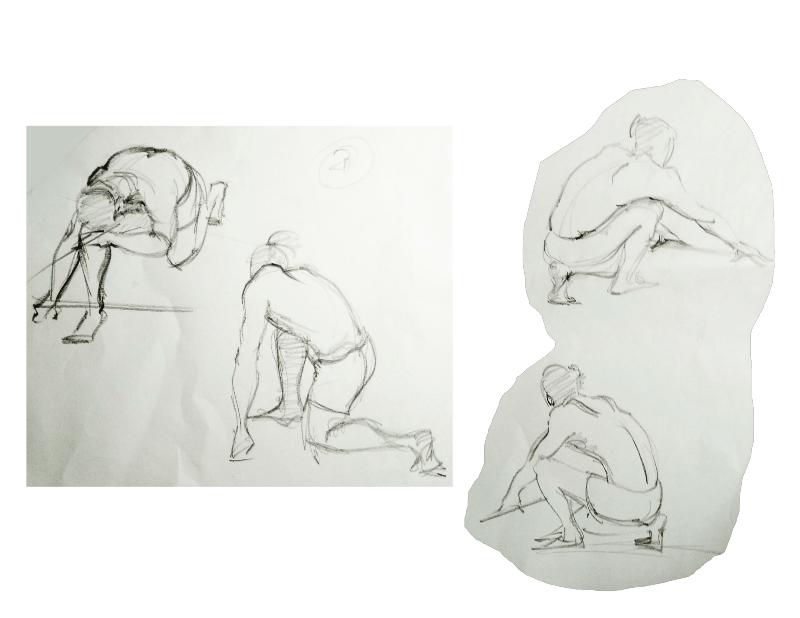 Bài tập Gesture Drawing Nguyễn Khương Thảo 8