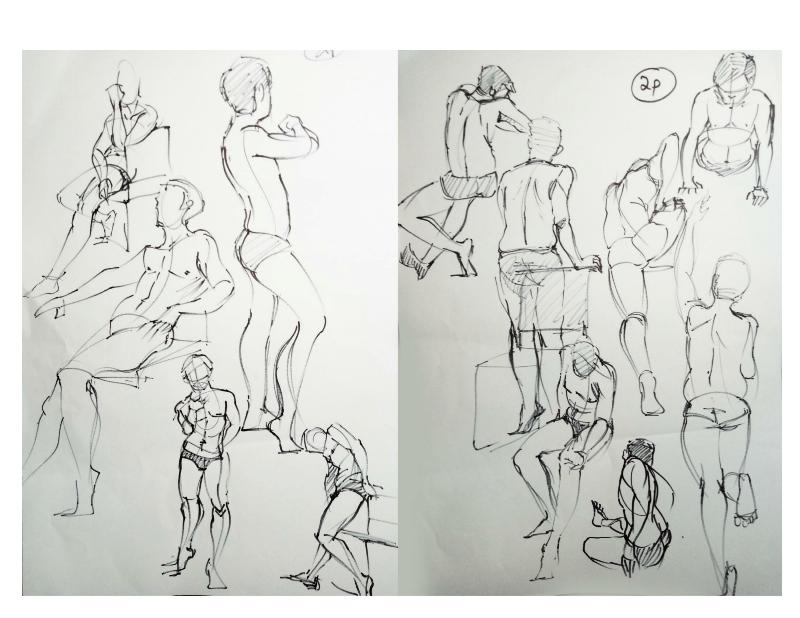 Bài tập Gesture Drawing Nguyễn Khương Thảo 9