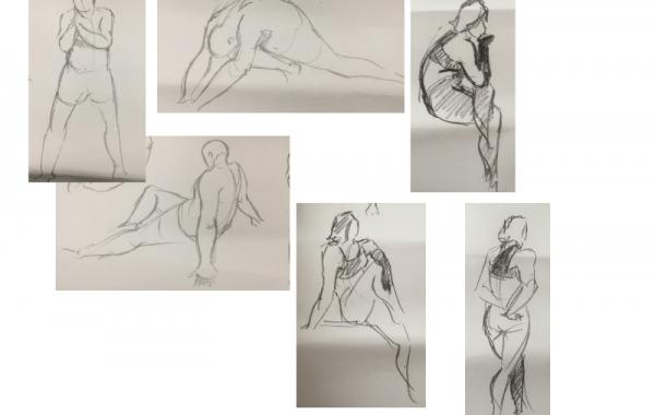 Bài thi Gesture (Figure) Drawing – Nguyễn Lê Bích Trâm