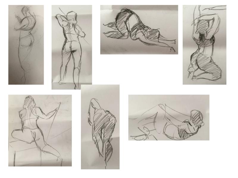 Bài tập Gesture Drawing Nguyễn Lê Bích Trâm 12