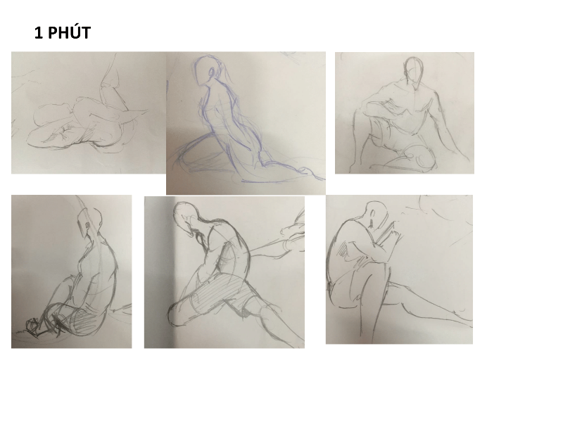 Bài tập Gesture Drawing Nguyễn Lê Bích Trâm 5