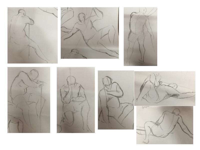 Bài tập Gesture Drawing Nguyễn Lê Bích Trâm 6