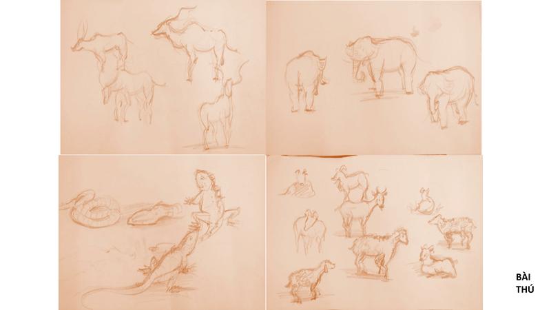 Bài tập Gesture Drawing Nguyễn Thanh Triều 10