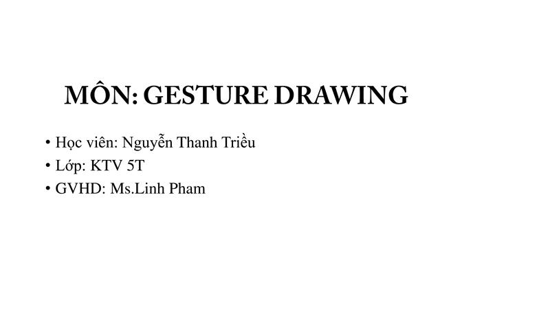 Bài tập Gesture Drawing Nguyễn Thanh Triều 17