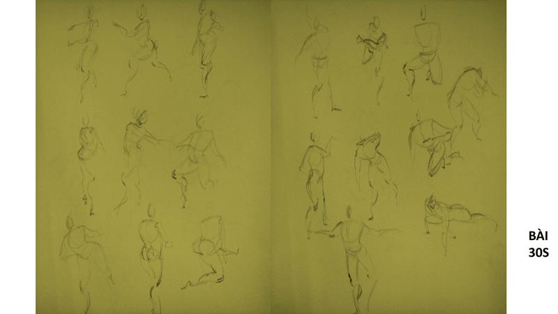 Bài tập Gesture Drawing Nguyễn Thanh Triều 18