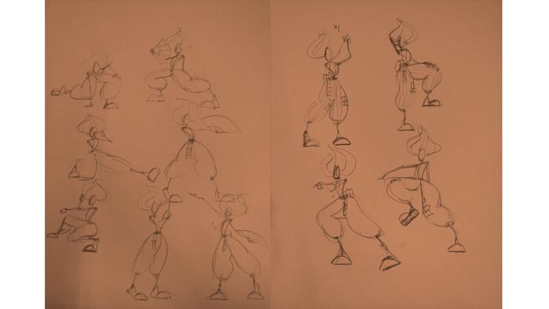 Bài tập Gesture Drawing Nguyễn Thanh Triều 2