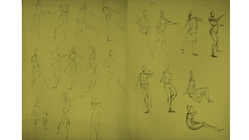 Bài tập Gesture Drawing Nguyễn Thanh Triều 20