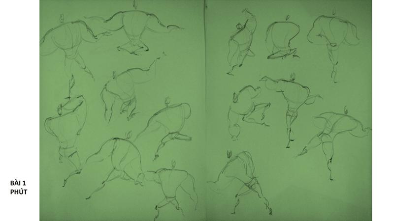 Bài tập Gesture Drawing Nguyễn Thanh Triều 4
