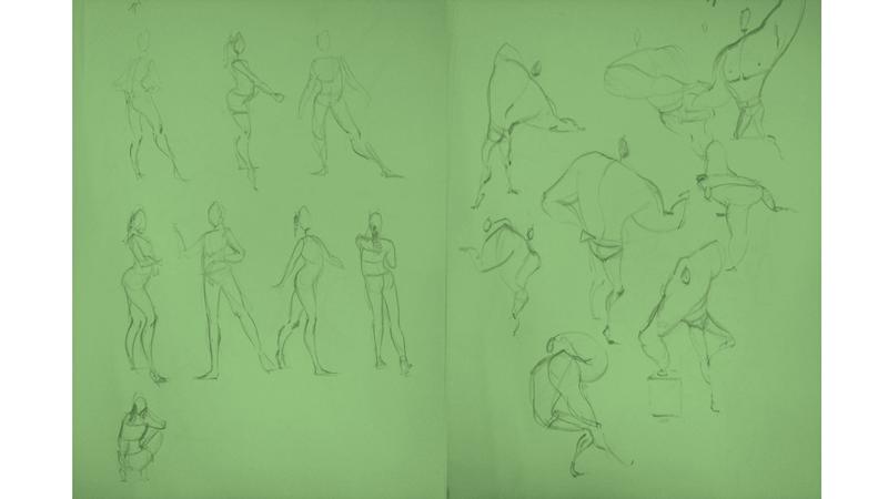 Bài tập Gesture Drawing Nguyễn Thanh Triều 5
