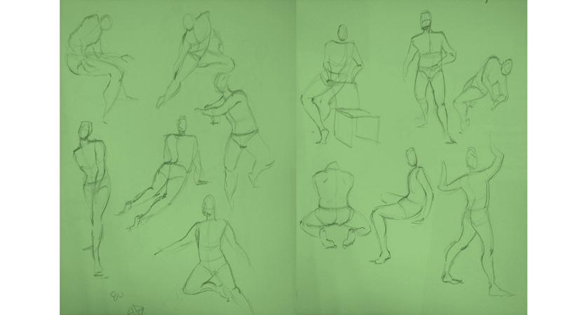 Bài tập Gesture Drawing Nguyễn Thanh Triều 6