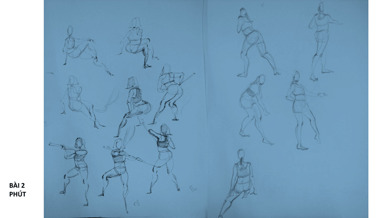 Bài tập Gesture Drawing Nguyễn Thanh Triều 7