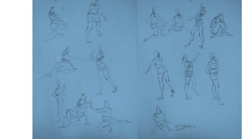 Bài tập Gesture Drawing Nguyễn Thanh Triều 8