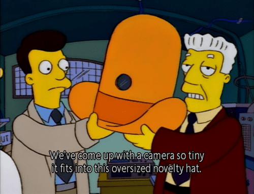 Camera hành trình trong The Simpson